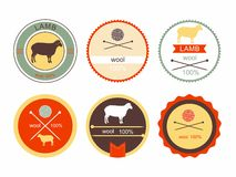 Sistema de etiquetas, de insignias y de elementos del diseño Fotografía de archivo