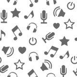 Sistema de etiquetas, de insignias y de elementos relacionados Karaoke del diseño Emblemas del club del Karaoke Micrófonos en bla Foto de archivo