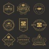Sistema de etiquetas de la cafetería, logotipo, insignias - vector el ejemplo Foto de archivo