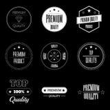 Sistema de etiquetas de la calidad del producto del vintage - superiores y de calidad superior Foto de archivo