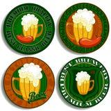 Sistema de etiquetas de la cerveza Fotos de archivo libres de regalías