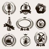 Sistema de etiquetas de la cerveza. Vector Imagen de archivo libre de regalías