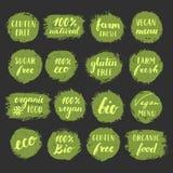 Sistema de etiquetas de la comida Imagen de archivo libre de regalías