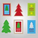 Sistema de etiquetas de la Navidad Imagenes de archivo