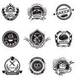 Sistema de etiquetas de la panadería Imagenes de archivo