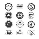 Sistema de etiquetas de la panadería del vintage Fotos de archivo libres de regalías