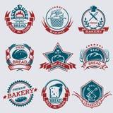 Sistema de etiquetas de la panadería Imagen de archivo libre de regalías