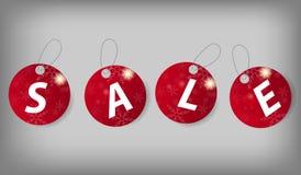 Sistema de etiquetas de la venta de la Navidad. Ejemplo del vector Fotografía de archivo libre de regalías