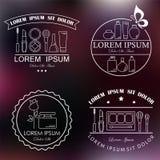 Sistema de etiquetas del cosmético y del maquillaje Imagen de archivo libre de regalías