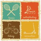 Sistema de etiquetas del deporte del vintage Imagen de archivo libre de regalías