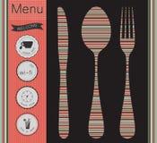 Sistema de etiquetas del menú Imágenes de archivo libres de regalías