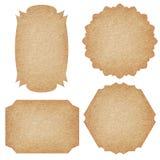 Sistema de etiquetas del papel reciclado imágenes de archivo libres de regalías