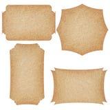 Sistema de etiquetas del papel reciclado imagen de archivo