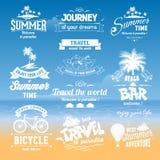 Sistema de etiquetas del verano Fotografía de archivo libre de regalías