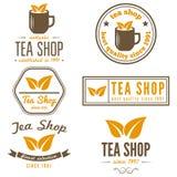 Sistema de etiquetas del vintage, de emblemas, y de plantillas del logotipo Fotos de archivo