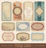 Sistema de etiquetas en blanco del vintage () Fotos de archivo libres de regalías