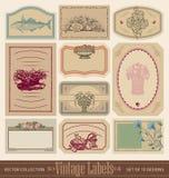 Sistema de etiquetas en blanco del vintage () Fotografía de archivo libre de regalías
