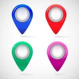 Sistema de etiquetas en el mapa libre illustration