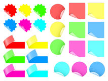 Sistema de etiquetas engomadas coloridas Foto de archivo