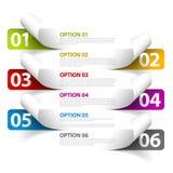 Sistema de etiquetas engomadas coloridas de la opción de la muestra del vector Fotografía de archivo libre de regalías