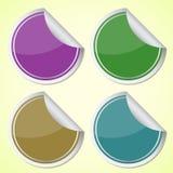 Sistema de etiquetas engomadas coloridas del círculo libre illustration