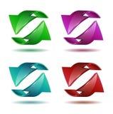 Sistema de etiquetas engomadas de la flecha Imágenes de archivo libres de regalías