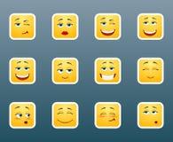 Sistema de etiquetas engomadas de la sonrisa Fotos de archivo libres de regalías