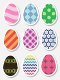 Sistema de etiquetas engomadas del huevo de Pascua Fotos de archivo