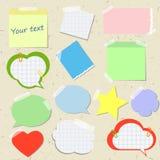 Sistema de etiquetas engomadas y de recordatorios en diversos estilos Foto de archivo libre de regalías