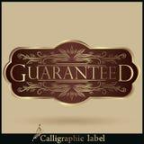 Sistema de etiquetas garantizadas, calidad superior del vector libre illustration