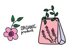 Sistema de etiquetas - producto orgánico sano Fotos de archivo libres de regalías