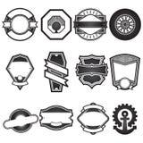 Sistema de etiquetas superior del escudo de la calidad del vector imágenes de archivo libres de regalías