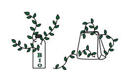 Sistema de etiquetas verde Libre Illustration
