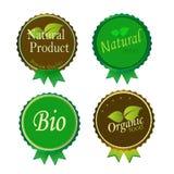 Sistema de etiquetas y de elementos orgánicos frescos Imágenes de archivo libres de regalías