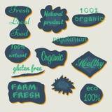 Sistema de etiquetas y de insignias de la acuarela Fotografía de archivo libre de regalías