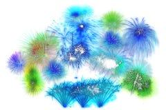 sistema de exhibición hermoso del fuego artificial por la Feliz Año Nuevo de la celebración Imágenes de archivo libres de regalías