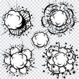 Sistema de explosiones de la historieta del libro de los tebeos Imagen de archivo libre de regalías
