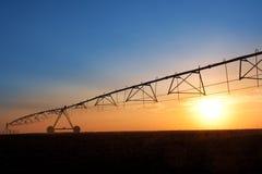 Sistema de extinção de incêndios agricultural da irrigação Fotos de Stock Royalty Free