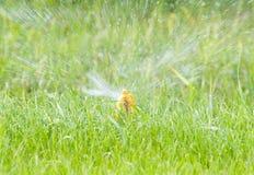 Sistema de extinção de incêndios da água Foto de Stock Royalty Free