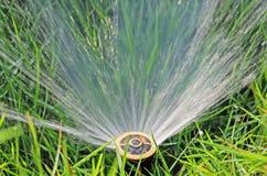 Sistema de extinção de incêndios da água do gramado Imagens de Stock