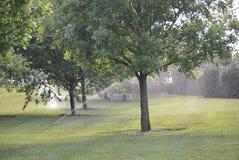 Sistema de sistema de extinção de incêndios do campo de golfe Fotografia de Stock Royalty Free