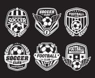Sistema de fútbol Logo Design Templates, insignia del vintage del fútbol libre illustration