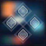 Sistema de falta de definición geométrica de las formas del inconformista Imagen de archivo libre de regalías