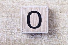 Sistema de figuras en los cubos de madera 0 Foto de archivo