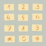 Sistema de figuras y del número Foto de archivo