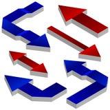 Sistema de flechas. Fotos de archivo libres de regalías