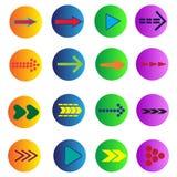 Sistema de 16 flechas Fotografía de archivo