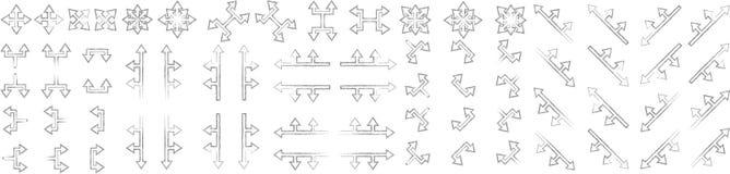 Sistema de flechas ningunas 4 ilustración del vector