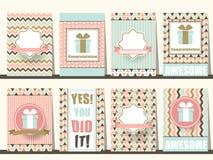 Sistema de folletos de la enhorabuena en estilo del vintage Vector eps10 libre illustration