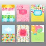 Sistema de folletos y de tarjetas geométricos Imagen de archivo libre de regalías